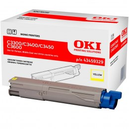 Toner Oki C-3300 3400 3450 3600 43459329 yellow